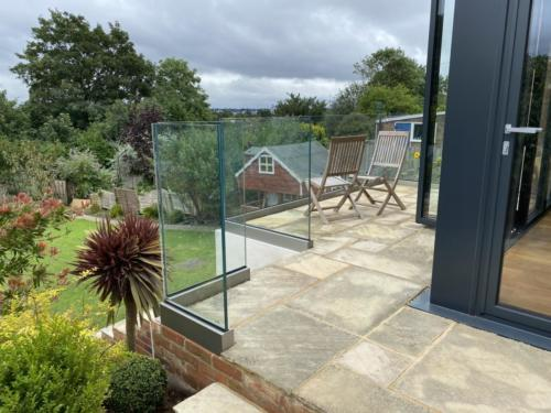 Allder Glass external balustrade from the balcony
