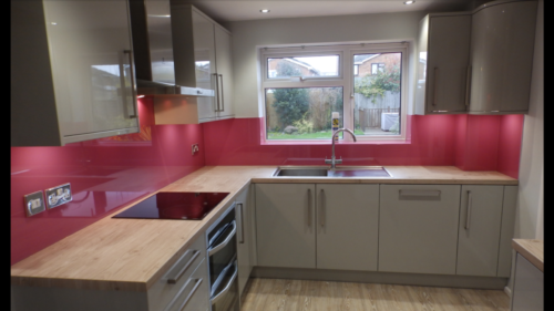 splasback pink Allder Group splashback fitting 0118 989 2613